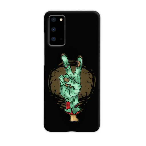 Hand Peace Sign Samsung Galaxy S20 Case