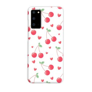 Pink Cherry Fruit Samsung Galaxy S20 Case
