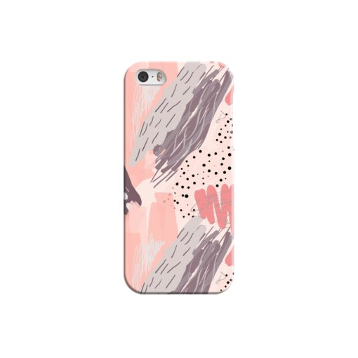 Romantic Watercolor Abstract Textures iPhone 5 Case