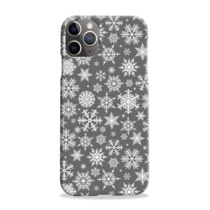 White Christmas Snowflakes iPhone 11 Pro Max Case