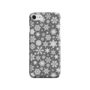White Christmas Snowflakes iPhone 8 Case