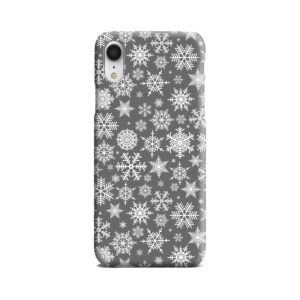 White Christmas Snowflakes iPhone XR Case