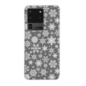 White Christmas Snowflakes Samsung Galaxy S20 Ultra Case