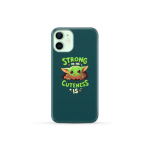 Cute Child Baby Yoda for Cute iPhone 12 Mini Case