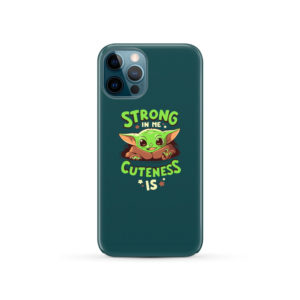Cute Child Baby Yoda for Simple iPhone 12 Pro Case