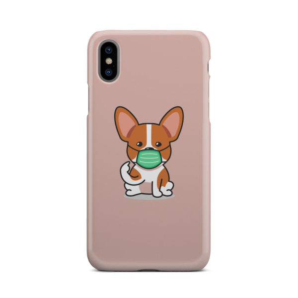 Cute Puppy Wearing Protective Face for Amazing iPhone X / XS Case Cover