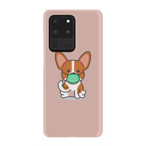 Cute Puppy Wearing Protective Face for Amazing Samsung Galaxy S20 Ultra Case Cover