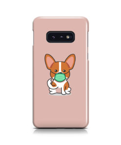 Cute Puppy Wearing Protective Face for Beautiful Samsung Galaxy S10e Case