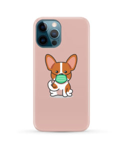 Cute Puppy Wearing Protective Face for Best iPhone 12 Pro Max Case