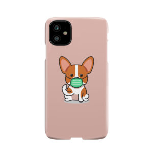 Cute Puppy Wearing Protective Face for Cool iPhone 11 Case