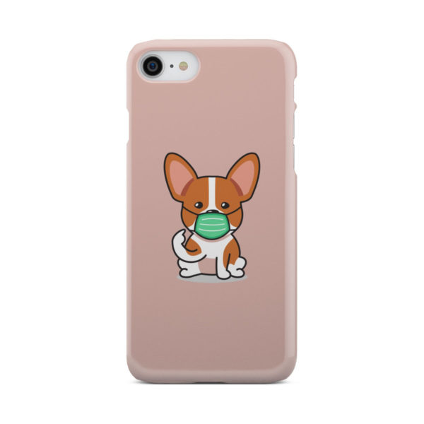 Cute Puppy Wearing Protective Face for Cool iPhone 7 Case