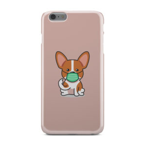 Cute Puppy Wearing Protective Face for Custom iPhone 6 Plus Case Cover