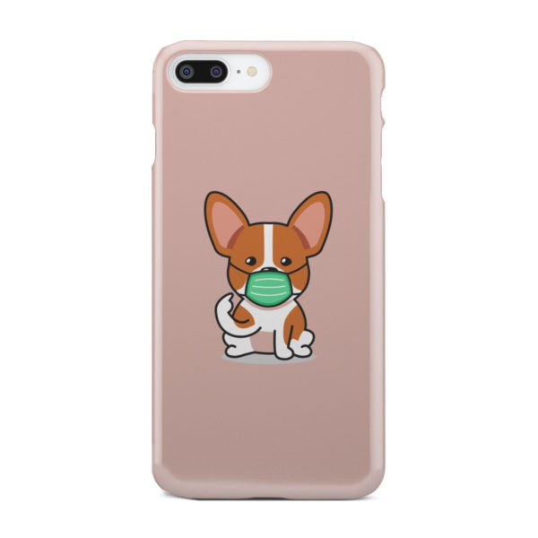 Cute Puppy Wearing Protective Face for Customized iPhone 7 Plus Case