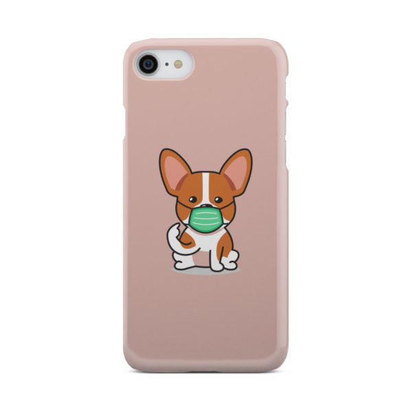 Cute Puppy Wearing Protective Face for Customized iPhone 8 Case Cover