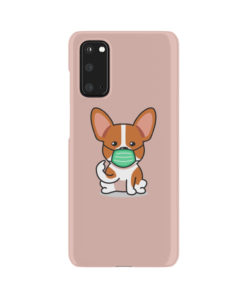 Cute Puppy Wearing Protective Face for Customized Samsung Galaxy S20 Case