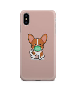 Cute Puppy Wearing Protective Face for Cute iPhone XS Max Case Cover