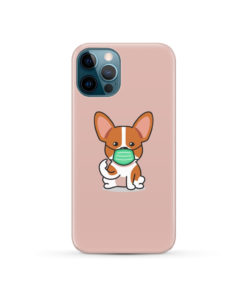 Cute Puppy Wearing Protective Face for Nice iPhone 12 Pro Case