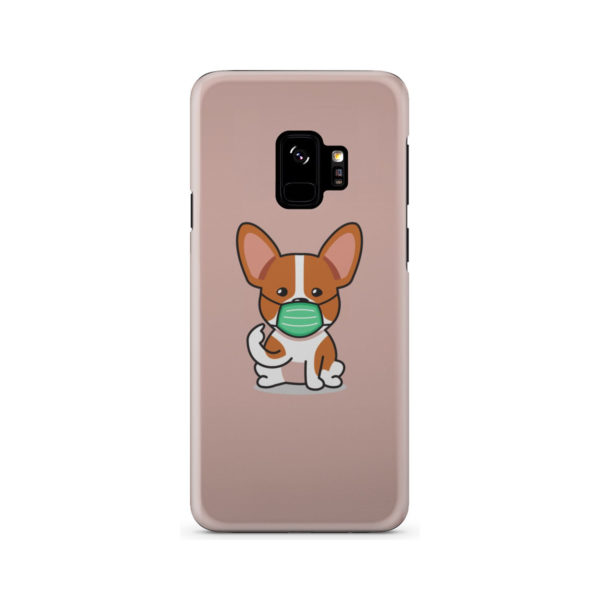 Cute Puppy Wearing Protective Face for Nice Samsung Galaxy S9 Case Cover