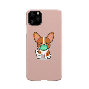 Cute Puppy Wearing Protective Face for Personalised iPhone 11 Pro Max Case