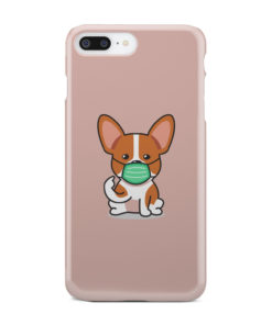 Cute Puppy Wearing Protective Face for Premium iPhone 8 Plus Case Cover