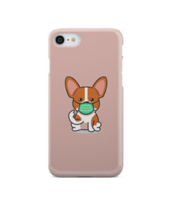 Cute Puppy Wearing Protective Face for Premium iPhone SE 2020 Case