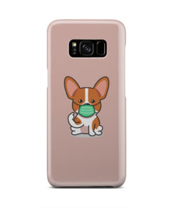 Cute Puppy Wearing Protective Face for Simple Samsung Galaxy S8 Case