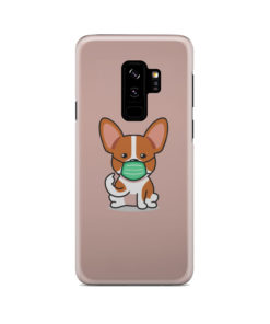 Cute Puppy Wearing Protective Face for Stylish Samsung Galaxy S9 Plus Case