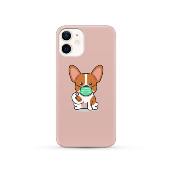 Cute Puppy Wearing Protective Face for Trendy iPhone 12 Case