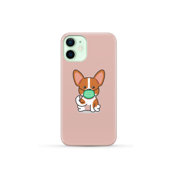 Cute Puppy Wearing Protective Face for Trendy iPhone 12 Mini Case Cover