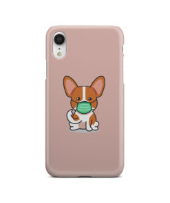 Cute Puppy Wearing Protective Face for Trendy iPhone XR Case