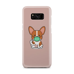 Cute Puppy Wearing Protective Face for Trendy Samsung Galaxy S8 Plus Case