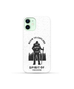Hiking on the Forest Quote for Custom iPhone 12 Mini Case Cover