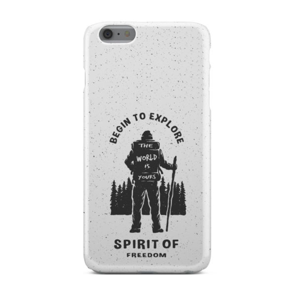 Hiking on the Forest Quote for Customized iPhone 6 Plus Case Cover