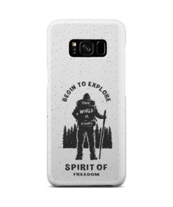 Hiking on the Forest Quote for Customized Samsung Galaxy S8 Case Cover