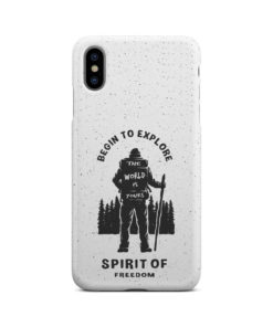 Hiking on the Forest Quote for Personalised iPhone XS Max Case Cover