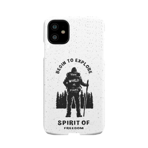 Hiking on the Forest Quote for Premium iPhone 11 Case
