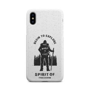 Hiking on the Forest Quote for Simple iPhone X / XS Case Cover