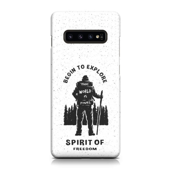 Hiking on the Forest Quote for Stylish Samsung Galaxy S10 Plus Case Cover