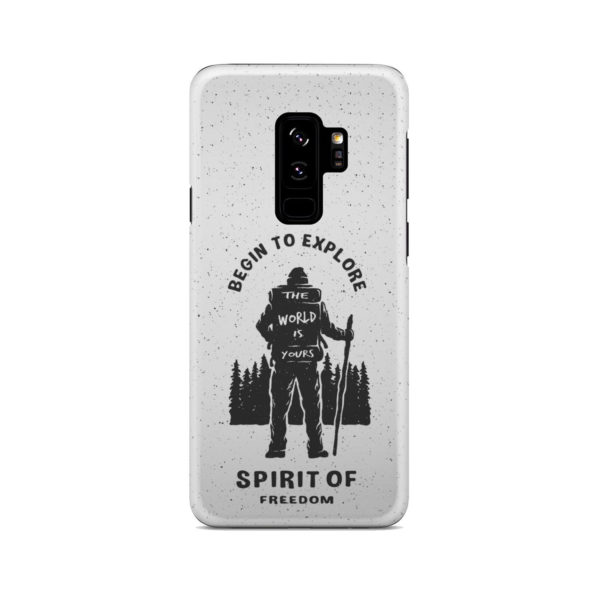 Hiking on the Forest Quote for Stylish Samsung Galaxy S9 Plus Case Cover