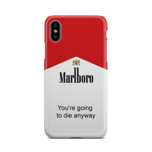 Marlboro Quote for Stylish iPhone X / XS Case