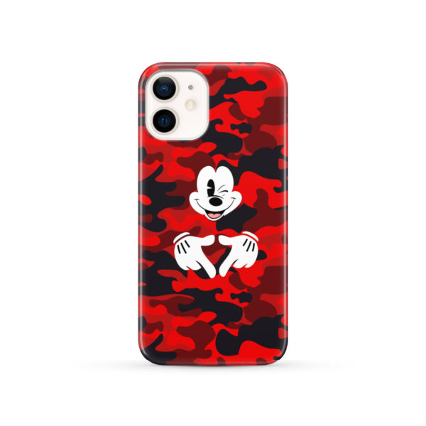 Mickey Mouse Camouflage for Simple iPhone 12 Case