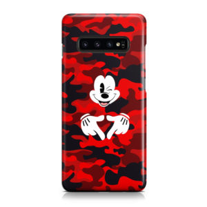 Mickey Mouse Camouflage for Simple Samsung Galaxy S10 Case