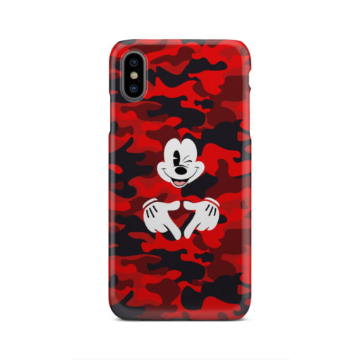 Mickey Mouse Camouflage for Stylish iPhone XS Max Case Cover
