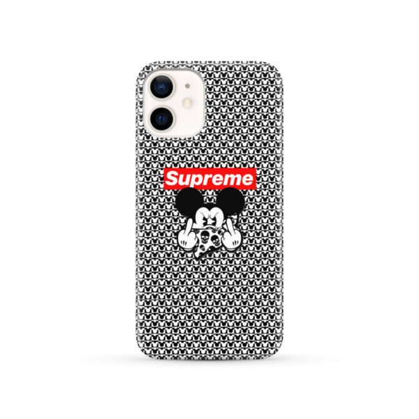 Mickey Mouse Gangster Supreme for Stylish iPhone 12 Case
