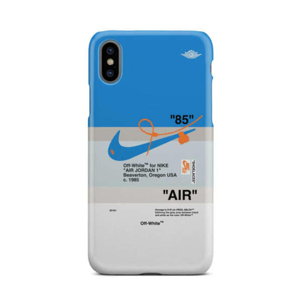 Nike Air Jordan Off White for Personalised iPhone X / XS Case