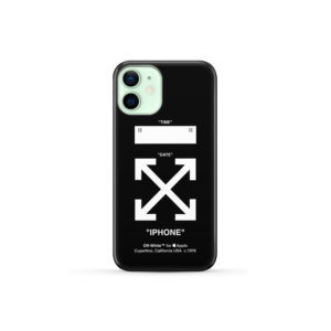 Off White Logo for Simple iPhone 12 Mini Case