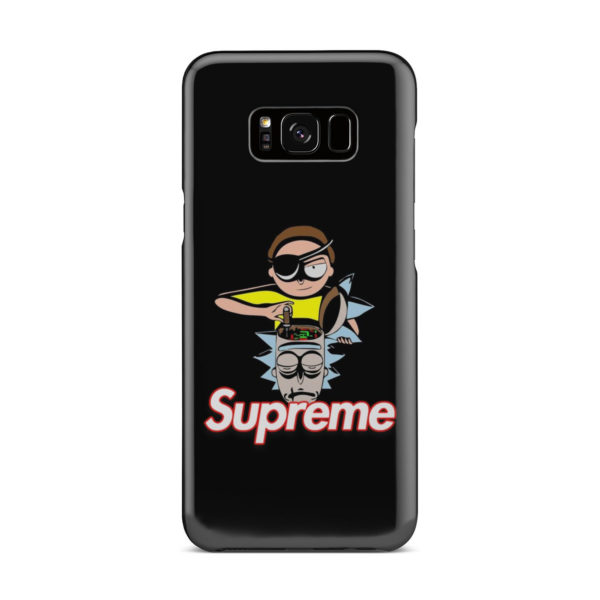 Rick and Morty Black Supreme for Amazing Samsung Galaxy S8 Plus Case Cover