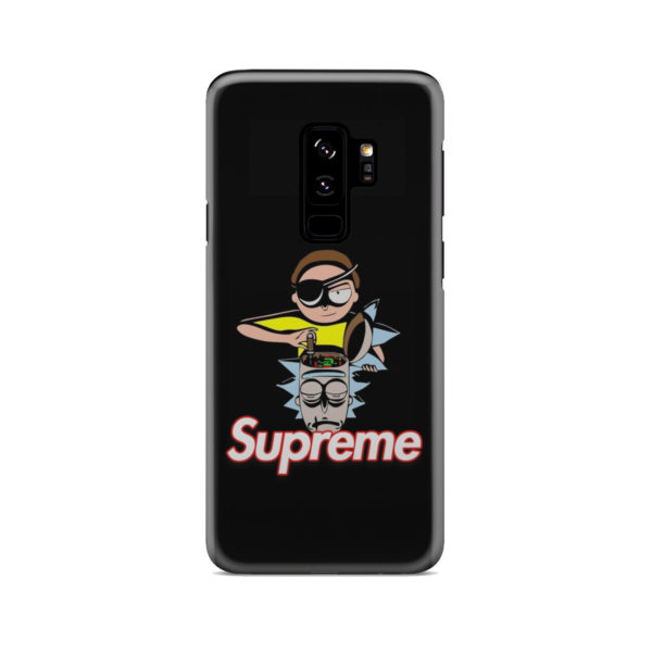 Rick and Morty Black Supreme for Best Samsung Galaxy S9 Plus Case Cover