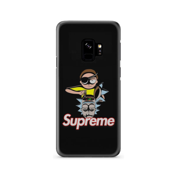 Rick and Morty Black Supreme for Customized Samsung Galaxy S9 Case Cover
