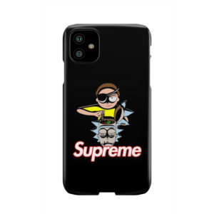 Rick and Morty Black Supreme for Cute iPhone 11 Case